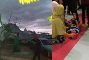 Freak storm hits Pas Muktamar, at least 18 hurt