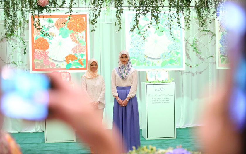 Vivy Yusof and HRH Princess Sarah of Brunei