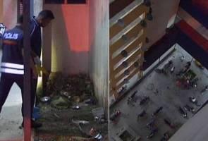 Suspek dikehendaki polis maut terjatuh tingkat 12 flat PPR