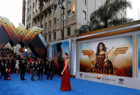 """The U.S. premiere of superhero movie """"Wonder Woman"""" went ahead with extra security in Los Angeles."""