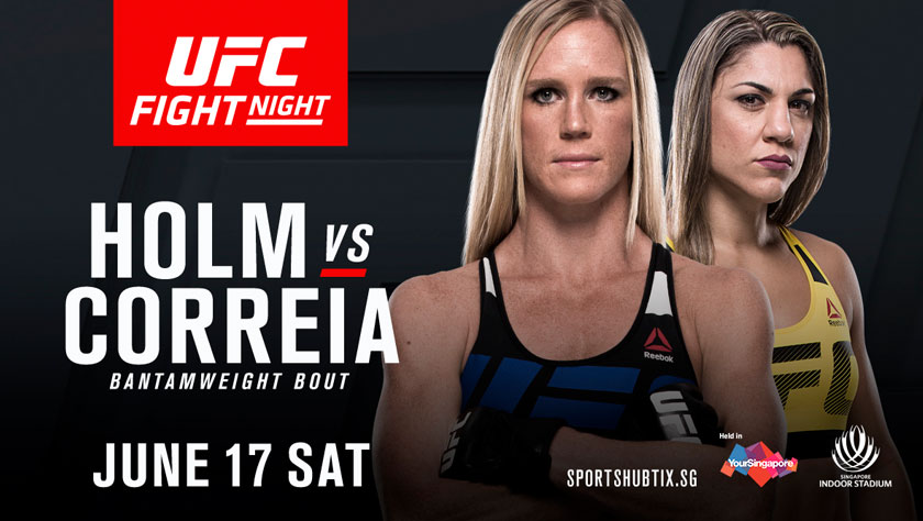 UFC Fight Night Singapore poster. - Pic by UFC
