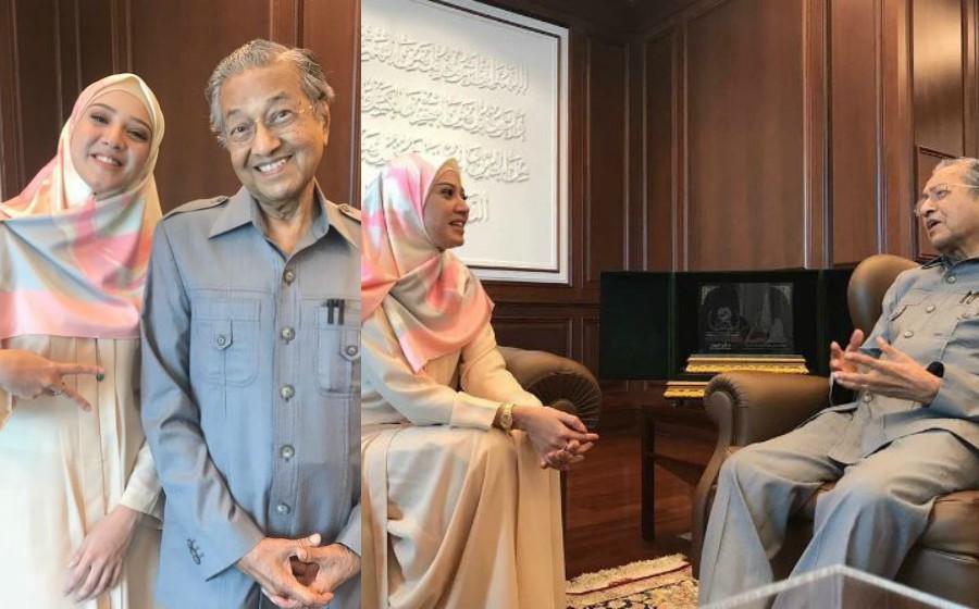 Soalan merapu! Netizen kritik Fathia Latiff kendali sesi FB Live bersama Tun M