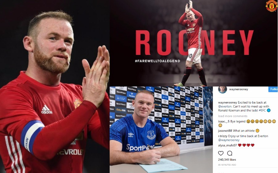 Manchester United ucap selamat tinggal, Wayne Rooney teruja kembali ke Everton