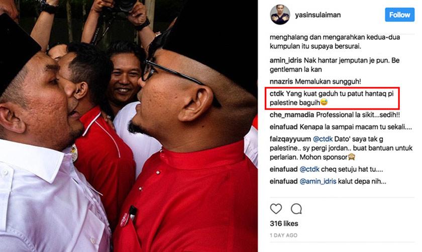 Instagram photo of Yasin Sulaiman