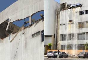 'Loud sound before wall collapsed'