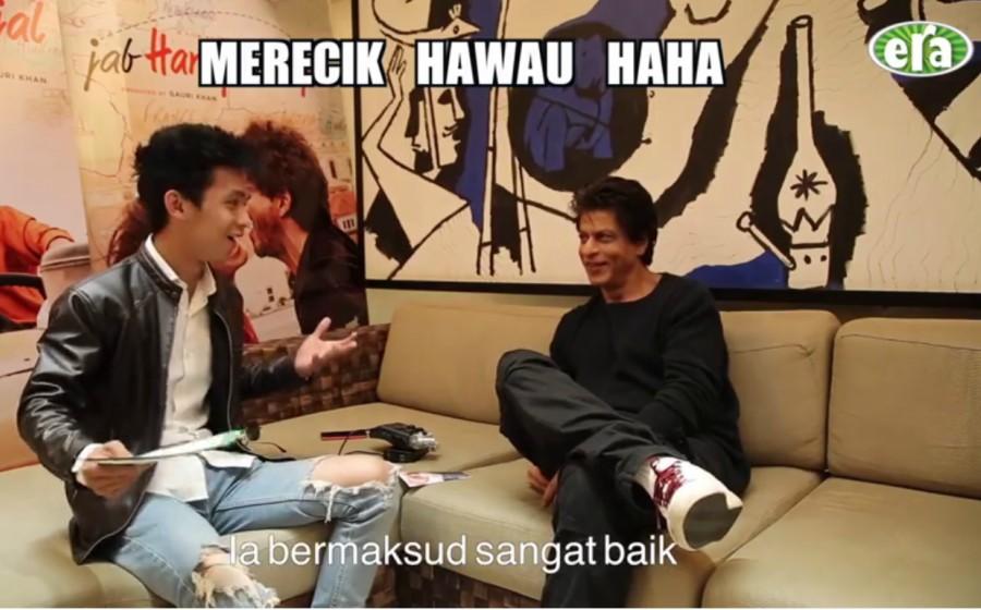 'Merecik Hawau': Jaa Era FM ajar Shah Rukh Khan cakap dialek Melaka