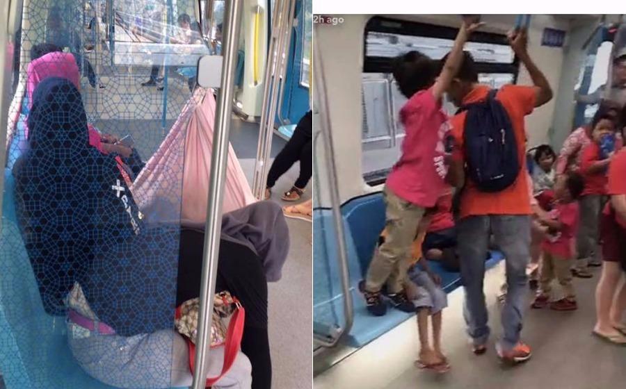 Sangkut buaian bayi dalam MRT, pasangan ini dikritik netizen