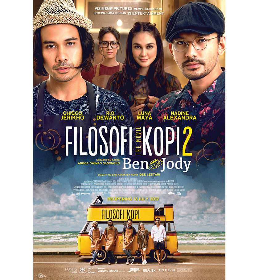 Filosofi Kopi 2 has successfully attracted an audience of 134,281 in its first four days of screening starting from 13 July to 16 July 2017.
