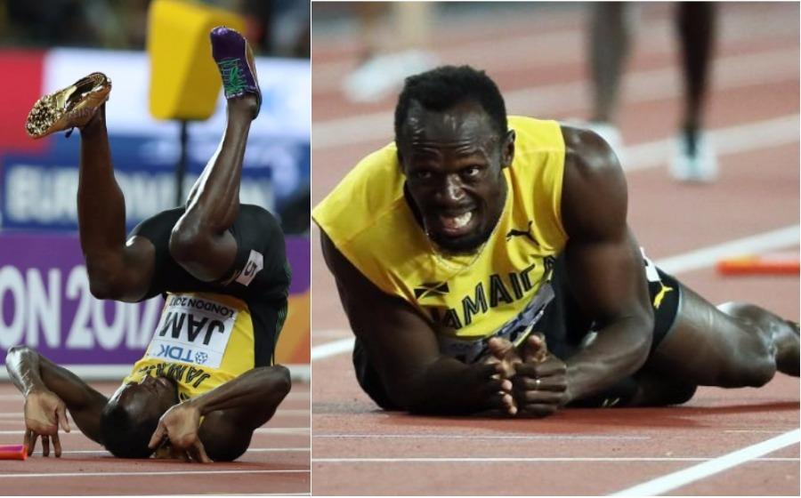 Walaupun jatuh, Usain Bolt dapat tepukan gemuruh