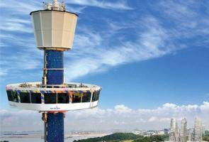 Kanak-kanak dan operator terperangkap: Tiger Sky Tower Singapura ditutup