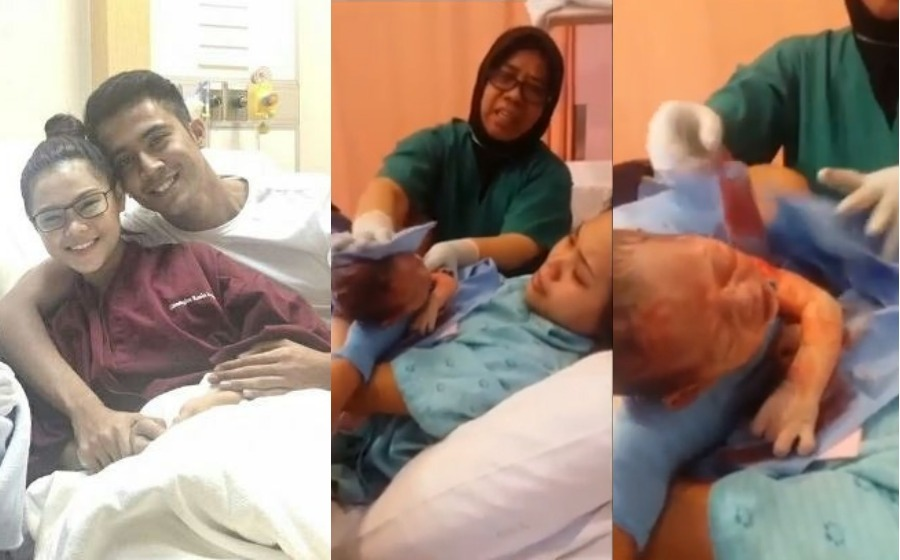 Netizen menitik air mata: Bella kongsi video saat lahirkan anaknya
