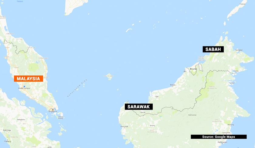 Peta Sabah, Sarawak