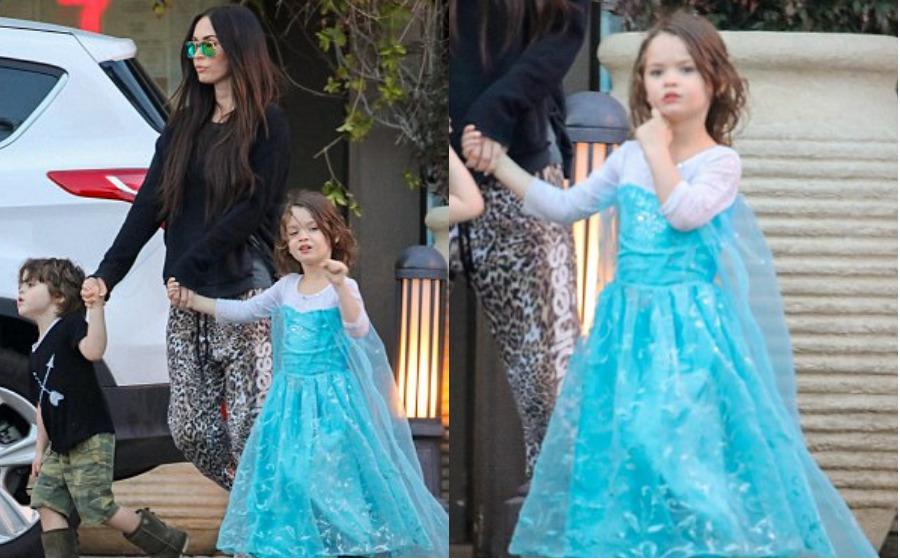 Beri anak lelaki pakai gaun Elsa, Megan Fox dikecam