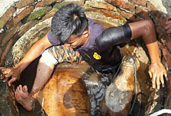 Bomba Johor selamatkan lembu betina terjatuh perigi