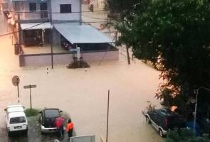 Heavy rain lashes Penang, causing floods, landslides and uprooting trees