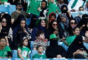 National celebrations open Saudi sports stadium to women for first time