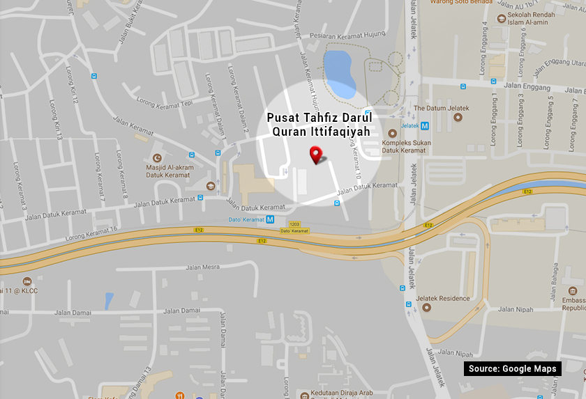 Location of Darul Quran Ittifaqiyah Tahfiz Centre.