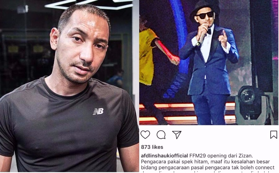 FFM29: Mungkin dia tak faham perjalanan acara - Zizan balas kritikan Afdlin
