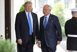 President Trump, PM Najib in talks at White House