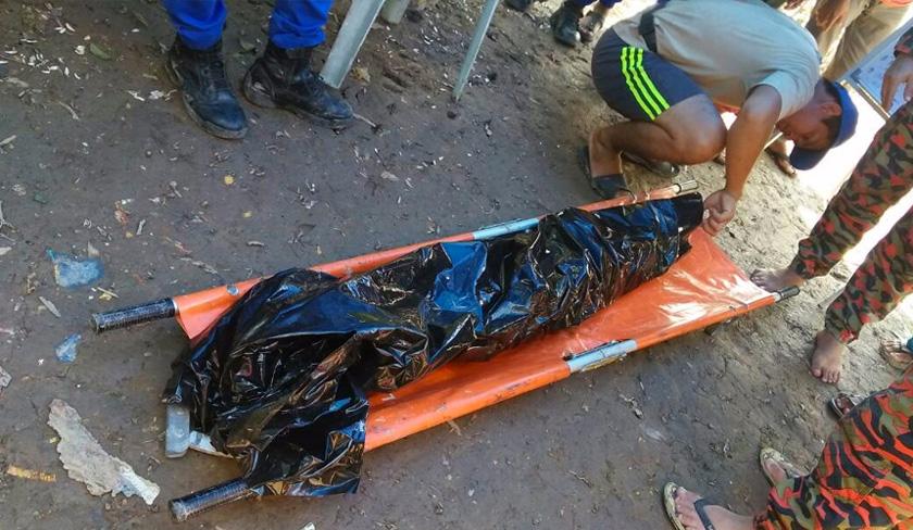 Mangsa sebelum itu disambar buaya ketika sedang memancing dengan sepupunya di tebing Sungai Kuala Besar, 24 September lalu. -Foto Jabatan Bomba dan Penyelamat Sarawak