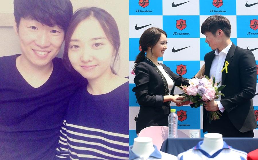 Bekas pemain Manchester United, Park Ji Sung bagi gelaran anak 'Dumpling'