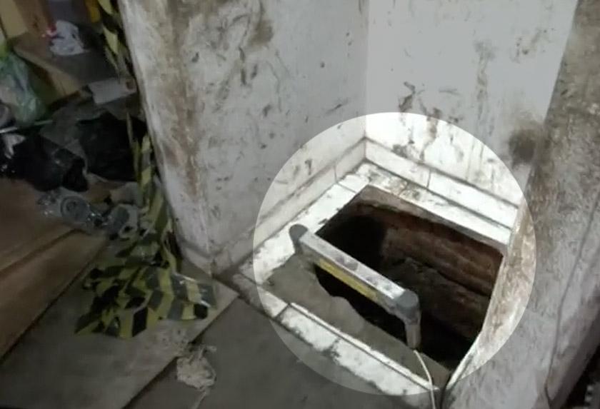 Sebuah rumah sewa menjadi tempat permulaan kerja-kerja menggali. - Reuters