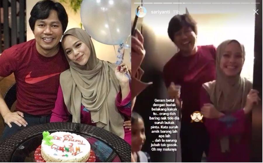Terima kejutan hari lahir ke-33, Sari Yanti geram dengan Jep Sepahtu