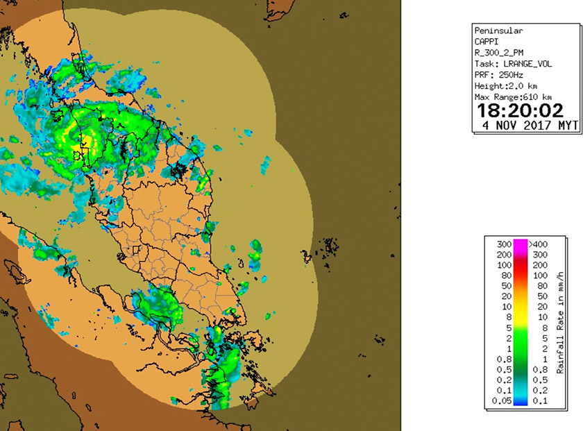 By evening, the cyclone was already over Penang Island and the rain had intensified
