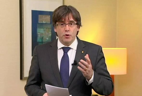 Bekas pemimpin Catalan dipenjara, penduduk adakan tunjuk perasaan