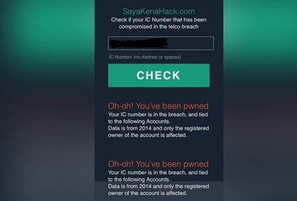 Sebelum ia diarahkan untuk ditutup oleh SKMM, ia membenarkan pengguna untuk menggunakan nombor kad pengenalan mereka untuk menyemak status.