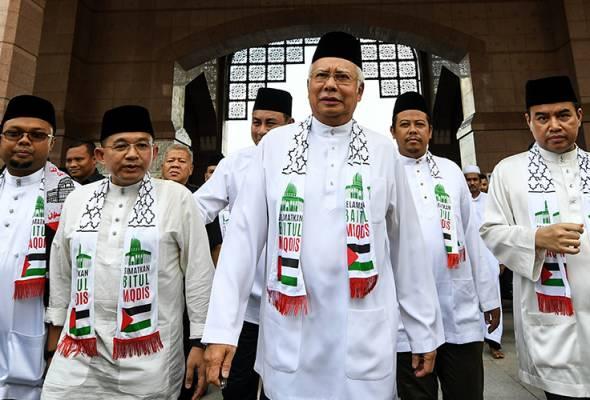 Image result for najib razak Himpunan Putih: Solidariti Selamatkan Baitulmaqdis,