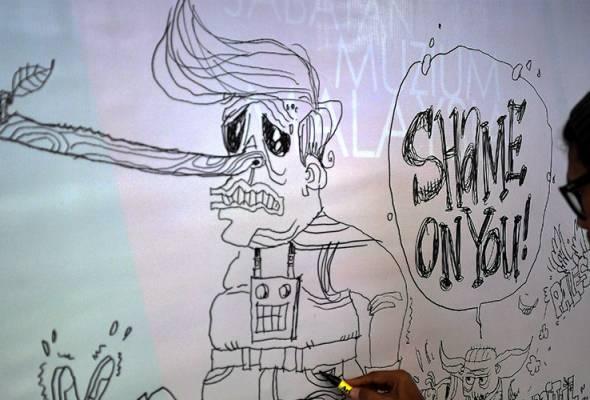 100 kartunis pertahan Baitulmaqdis menerusi lakaran kartun