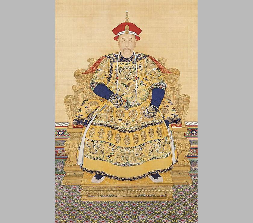 Potret Yongzheng, Kaisar Dinasti Qing, memakai busana persidangan. Foto Wikimedia Commons