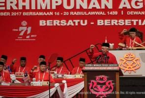 PAU2017: Perwakilan sambut semboyan PRU-14 Presiden UMNO