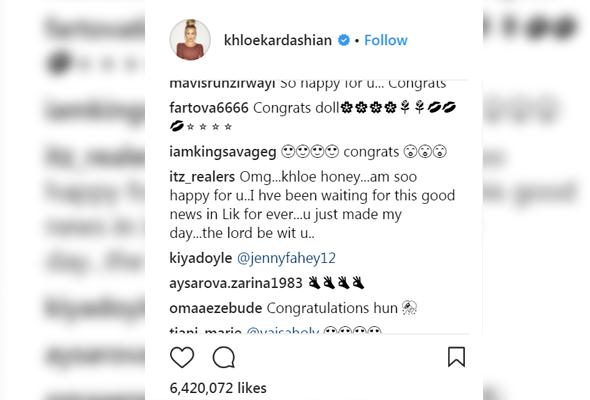 Reaksi netizen kepada berita kehamilan Khloe