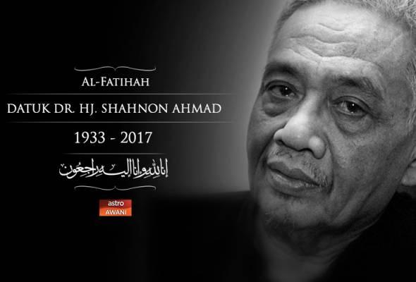 Sasterawan Negara Shahnon Ahmad meninggal dunia
