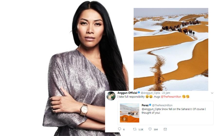 Snow On The Sahara, lagu Anggun jadi realiti