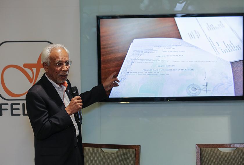 Shahrir turut menjelaskan, pada 14 April tahun lepas, Felda telah berjaya mendaftarkan Kaveat Persendirian ke atas 16 lot tanah yang telah dipindah milik. - Foto Astro AWANI / Shahir Omar