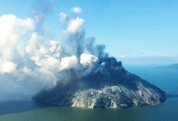 Gunung berapi Kadovar Papua New Guinea meletus lagi..