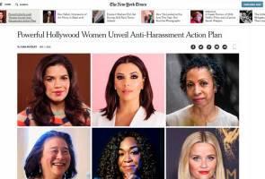 Time's Up: Wanita berkuasa Hollywood bangkit bersatu perangi jenayah seksual