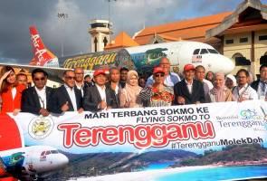 AirAsia pamerkan corak 'Keindahan Terengganu, Malaysia' pada pesawat