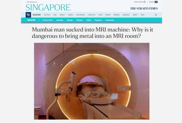 Niat nak membantu, lelaki akhirnya mati 'ditelan' mesin MRI