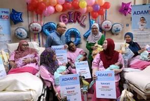 Lapan bayi penerima pertama ADAM50 di Kuala Lumpur