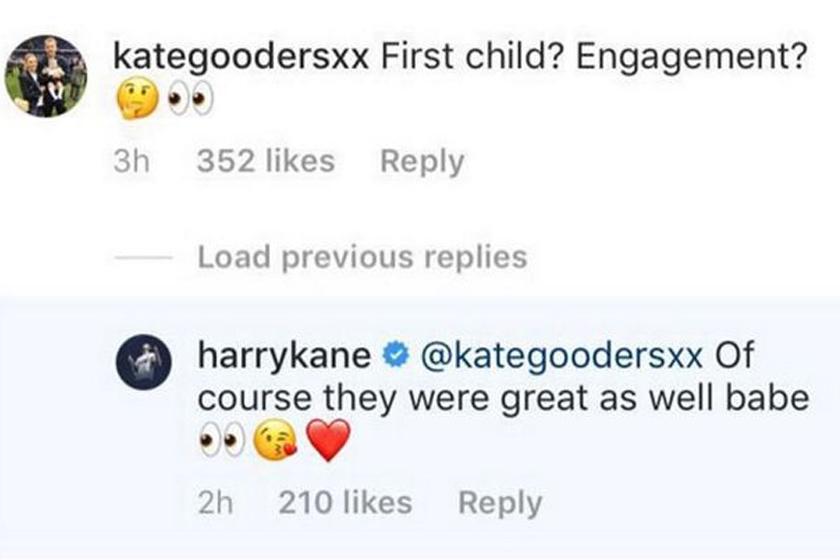Goodland meninggalkan satu 'pertanyaan' kepada Kane di akaun Instagramnya.