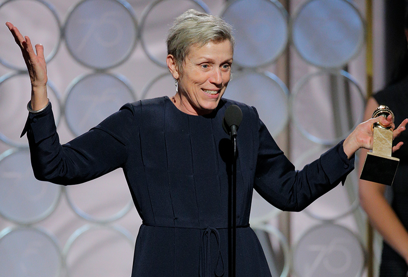 Frances McDormand. Sumber: AP