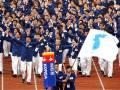 Atlet Korea Selatan dan Korea Utara bertanding di bawah satu bendera