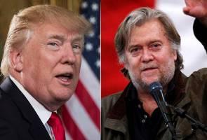 Tak mengaku khianat, Trump sebaliknya tuduh Bannon dah 'hilang akal'