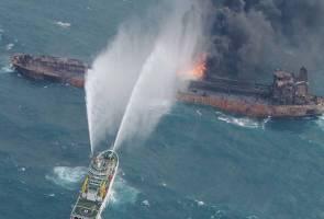 Sanchi masih terbakar di Laut China
