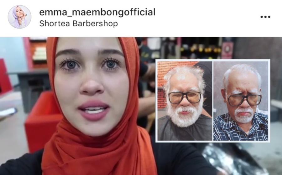 """Comelnya Ayoh!"" - Makeover bapa Emma Maembong jadi perhatian netizen"