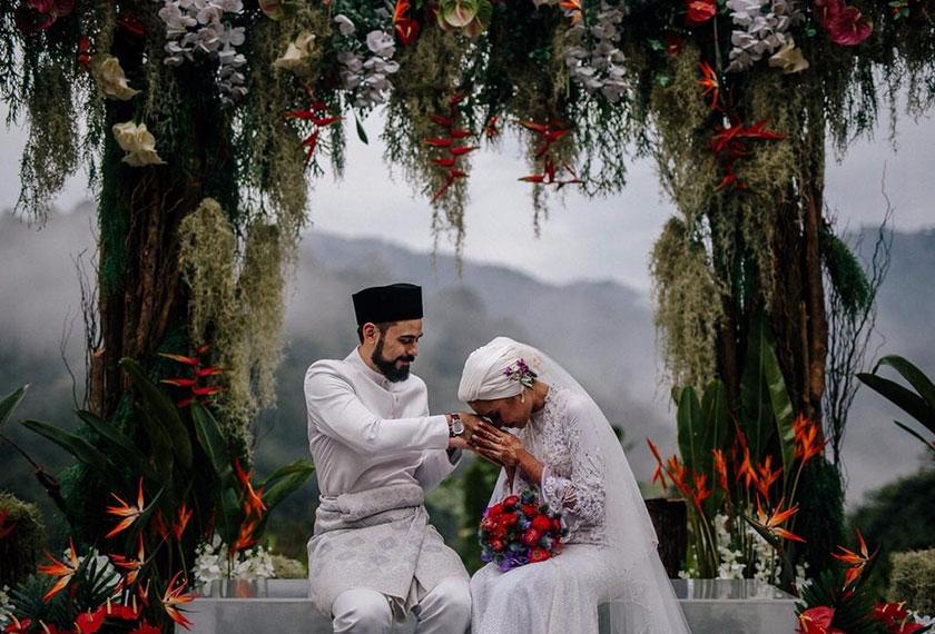 Majlis pernikahan Yuna dan Adam yang bertemakan 'garden wedding' di Puncak Rimba, Bentong. - Kredit foto: WeddingsbyQay